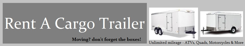 One Way Cargo Trailer Rental
